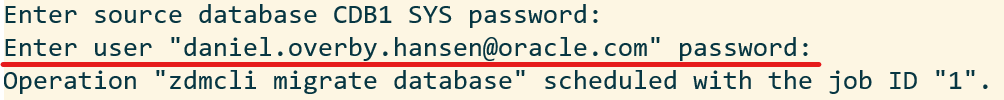 When using OCI oject storage this is NOT your user password, but an auth token