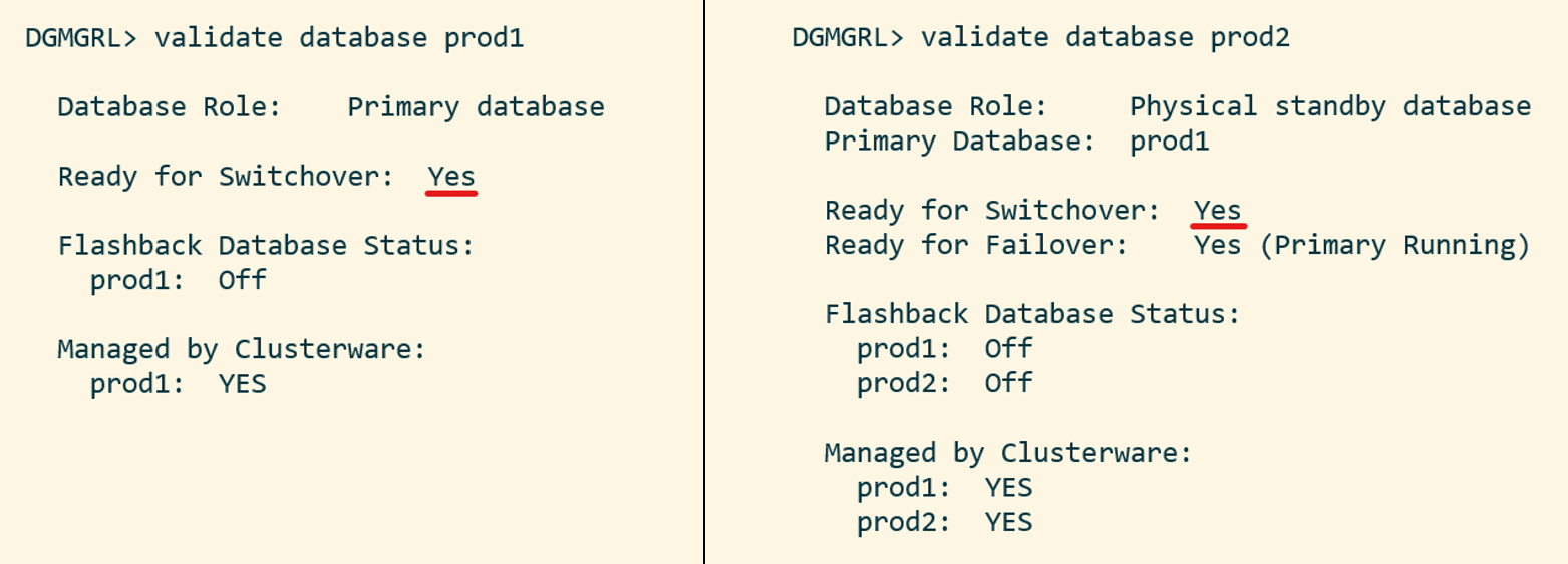 After upgrading a primary database (data guard) with autoupgrade you can use validate database to ensure everything is fine
