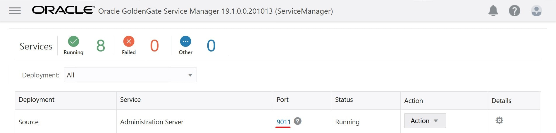 Click on the port number to go to the specific console